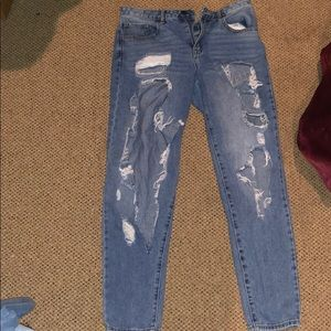 It's ripped and distressed jeans